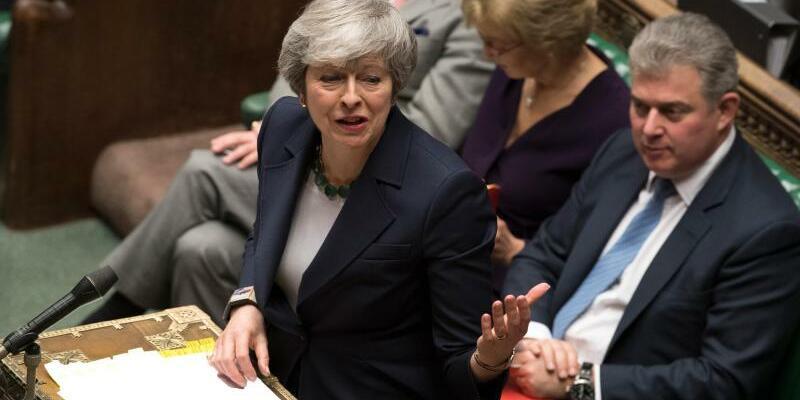 May spricht vor dem Parlament - Foto: Mark Duffy/UK Parliament/AP