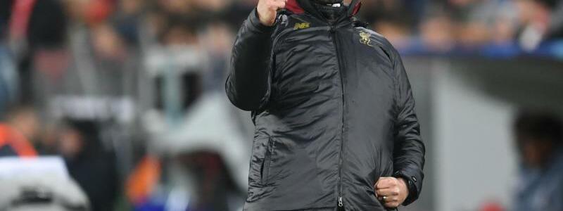 Torjubel - Foto: Liverpools Trainer Jürgen Klopp feiert das Tor seines Teams zum 1:0 gegen die Bayern. Foto:Tobias Hase