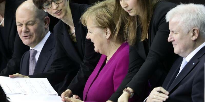 Ein Jahr große Koalition - Foto: Kay Nietfeld/Archiv