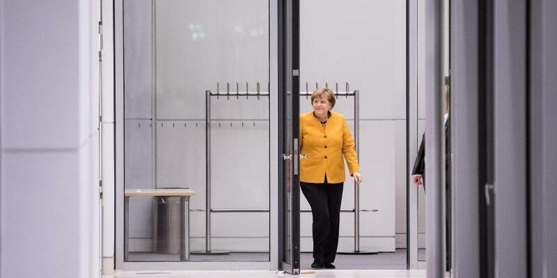 Merkel beim Koalitionsausschuss - Foto: Soeren Stache