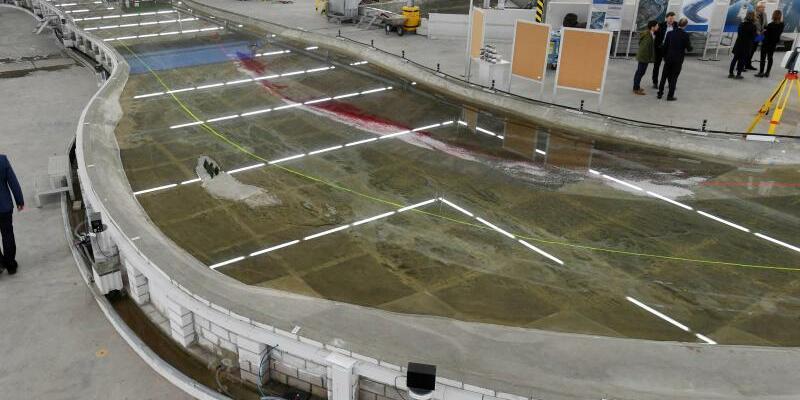 Großmodell des Jungferngrund am Rhein - Foto: Uli Deck