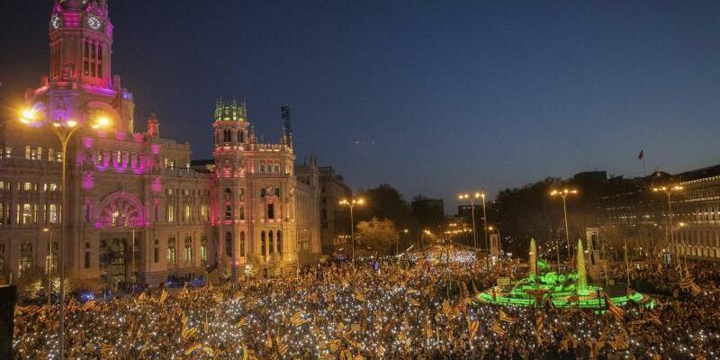 Großdemo in Madrid - Foto: Bernat Armangue/AP