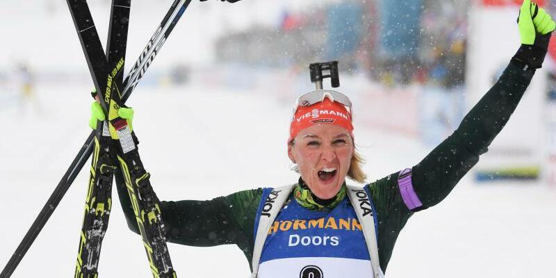 Biathletin Herrmann - Foto: Sven Hoppe