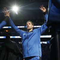 Unentschlossen - Foto: Dirk Nowitzki hat auch kurz vor Saisonende noch keine Entscheidung über seinen Rücktritt getroffen. Foto:Lm Otero/AP/dpa
