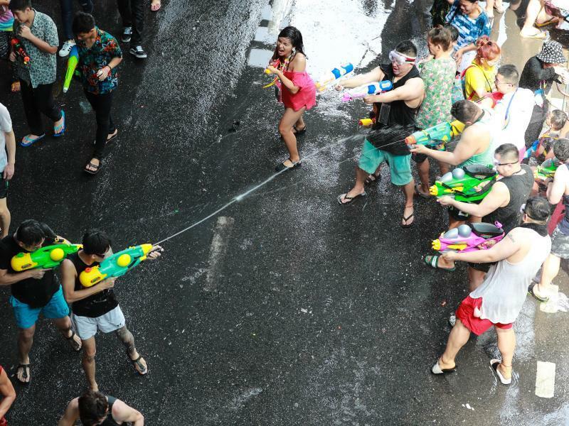 Wasserschlacht - Foto: Zhang Keren/XinHua