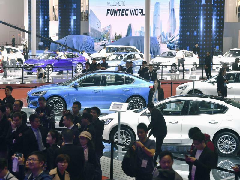 Automesse «Auto Shanghai» - Foto: Kyodo