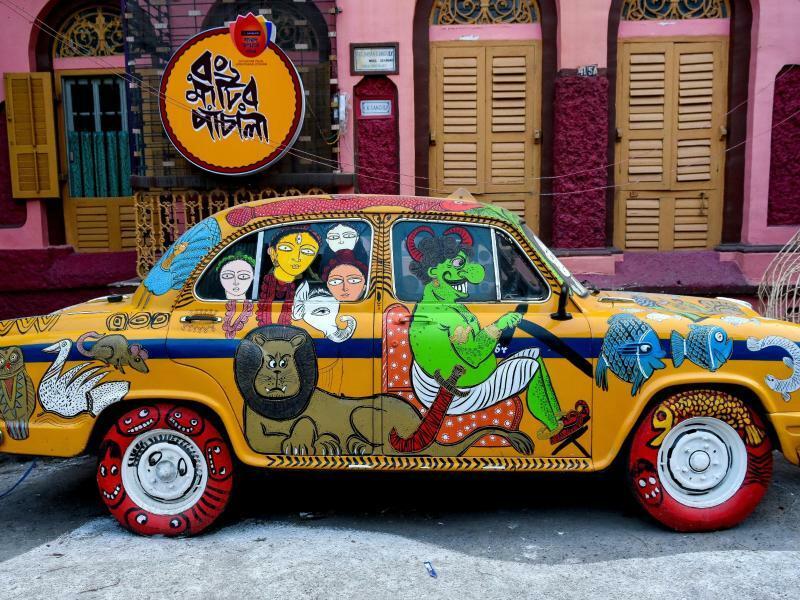 Indische Taxi-Kunst - Foto: Debarchan Chatterjee/ZUMA Wire