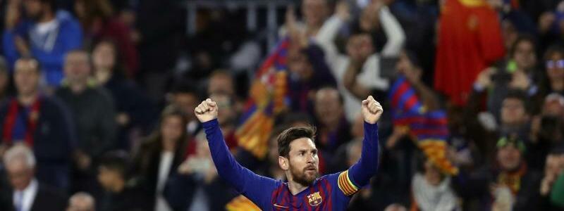 Torgarant - Foto: Lionel Messi feiert seinen ersten Treffer für den FC Barcelona im Spiel gegen Manchester United. Foto:Manu Fernandez/AP/dpa