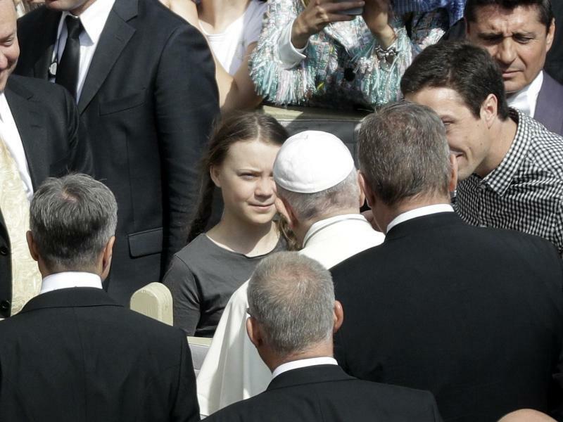 Thunberg besucht den Papst - Foto: Gregorio Borgia/AP
