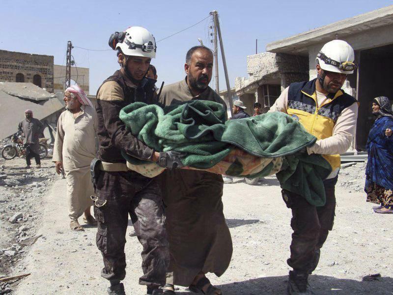 Konflikt in Syrien - Foto: Syrian Civil Defense White Helmets