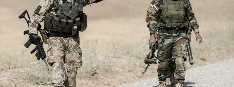 Bundeswehr im Irak - Foto: Michael Kappeler/Archiv