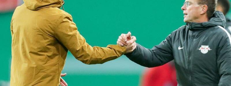 Rangnick und Nagelsmann - Foto: Jan Woitas