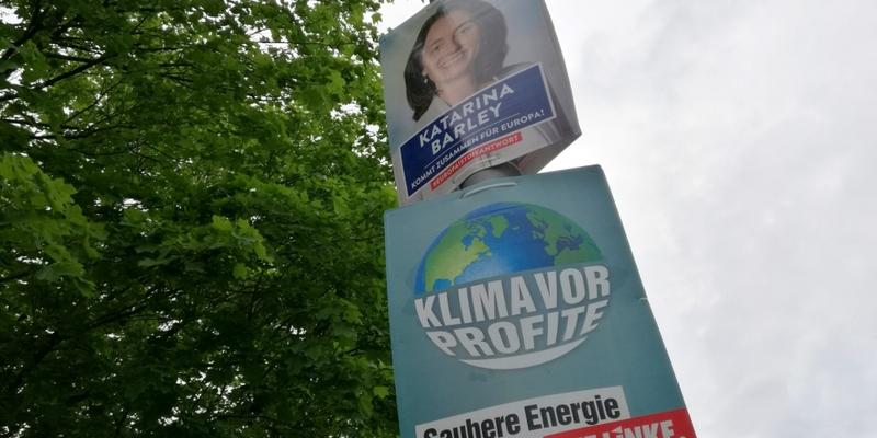 Wahlplakate zur Europawahl 2019 von SPD und Linke - Foto: über dts Nachrichtenagentur