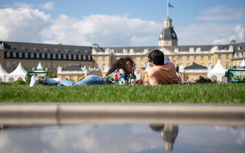 Sonnenwetter in Karlsruhe - Foto: Sebastian Gollnow