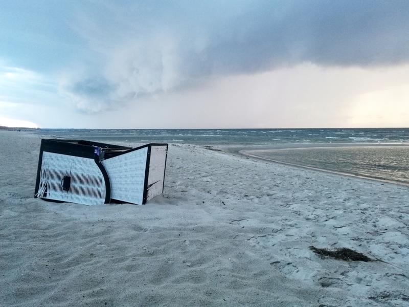 Umgekippter Strandkorb - Foto: über dts Nachrichtenagentur