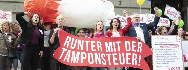 Tamponsteuer - Foto: Peter Klaunzer/Keystone