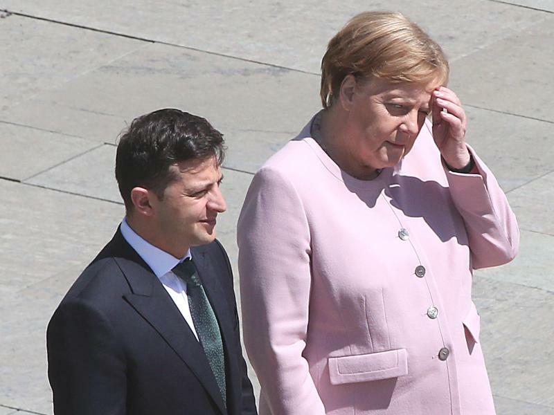 Selenskyj und Merkel - Foto: Wolfgang Kumm