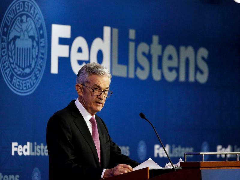 US-Notenbankchef Powell - Foto: US-Notenbankchef Jerome Powell lässt die Tür für eine baldige Leitzinssenkung weiter offen. Foto:Kiichiro Sato/AP