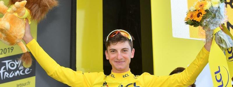 Spitzenreiter - Foto: Der Italiener Giulio Ciccone konnte bei der 6. Etappe das Gelbe Trikot des Gesamtführenden erobern. Foto:David Stockman/BELGA