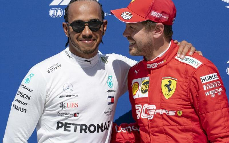 Hamilton und Vettel - Foto: Paul Chiasson/The Canadian Press/AP