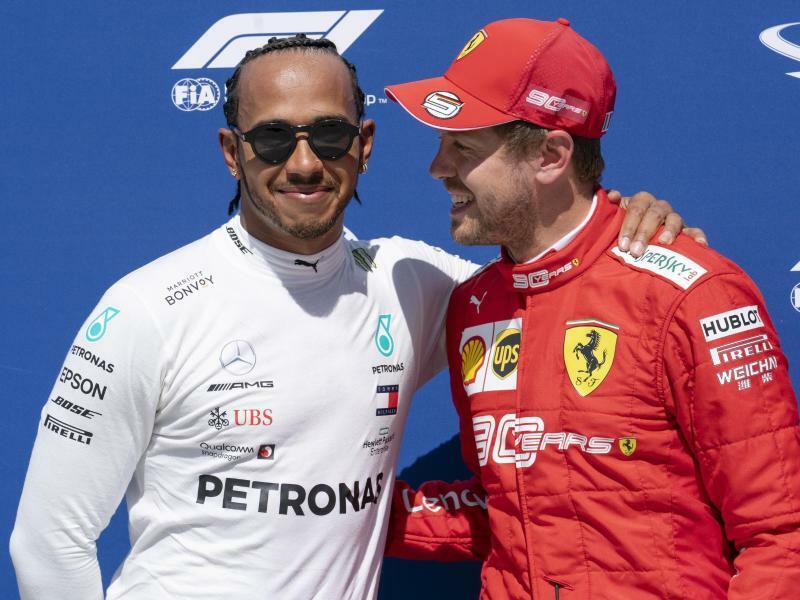 Hamilton und Vettel - Foto: Paul Chiasson/The Canadian Press/AP