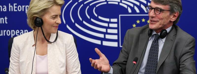Von der Leyen und Sassoli - Foto: EU-Parlamentspräsident David Sassoli (r.)mahnt:Ursula von der Leyen muss jetzt Tempo machen. Foto:Zhang Cheng/XinHuaJ