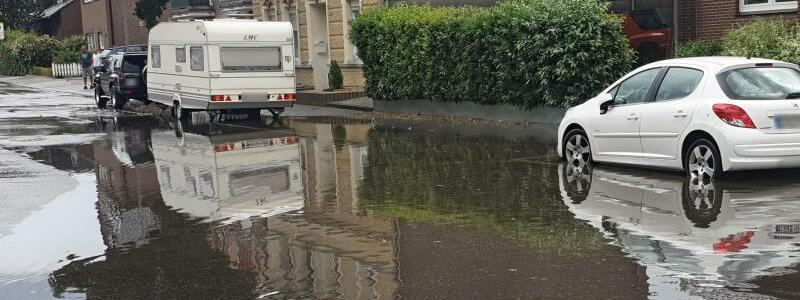 Überflutete Straße - Foto: Theo Titz