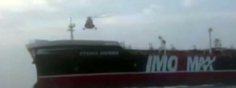 Helikopter über Öltanker - Foto: Revolutionsgarde/Press Association Images
