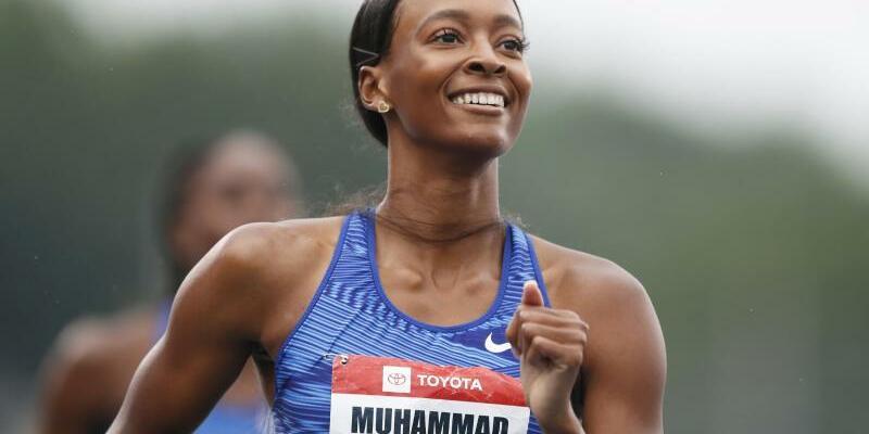 Weltrekord - Foto: Hat einen neuen Weltrekord über 400 Meter Hürden aufgestellt: Dalilah Muhammad aus den USA. Foto:Charlie Neibergall/AP