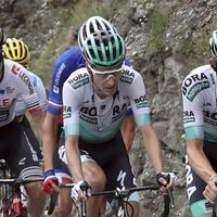 Starke Leistung - Foto: Hat seine Teamkameraden mit einer fehlerlosen Tour-Leistung beeindruckt: Emanuel Buchmann (M) vom Team Bora-hansgrohe. Foto:Thibault Camus/AP