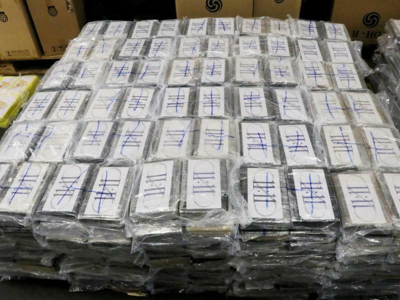 4,5 Tonnen Kokain auf Containerschiff in Hamburg entdeckt - Foto: Hauptzollamt Hamburg