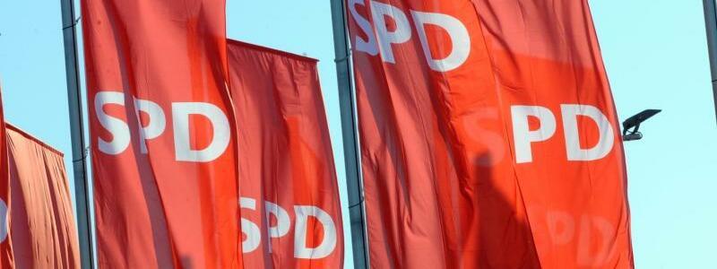 SPD Fahnen - Foto: Patrick Seeger/Illustration