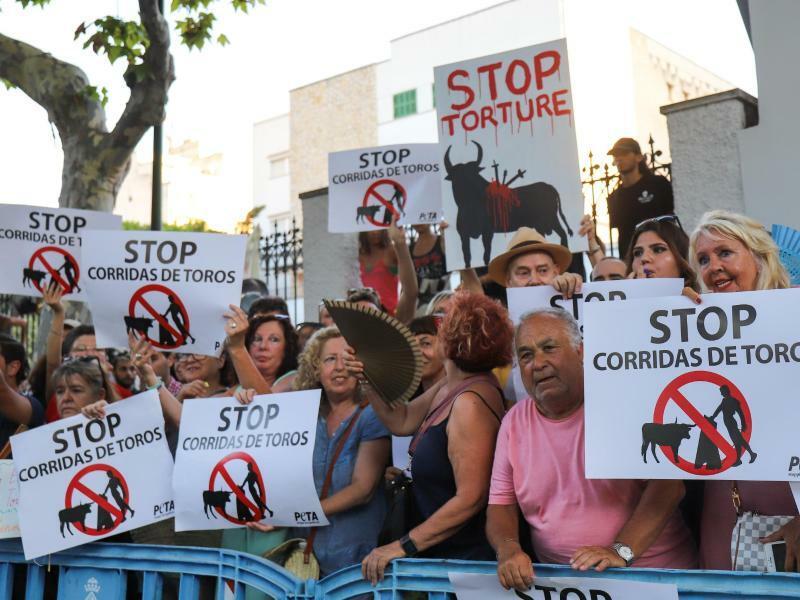 Proteste gegen Stierkampf auf Mallorca - Foto: Guillermo Valdes/Europapress