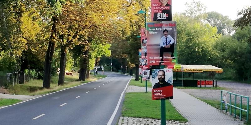 Wahlplakate vor Landtagswahl in Brandenburg - Foto: über dts Nachrichtenagentur