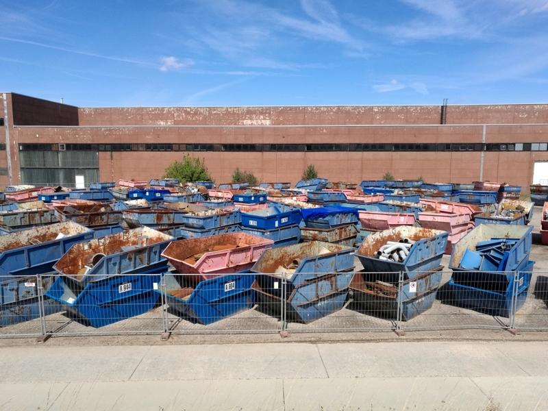 Container für Schrott und Abfall - Foto: über dts Nachrichtenagentur