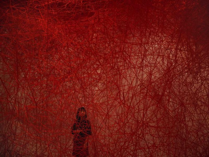 Rote Kunst - Foto: Jae C. Hong, AP