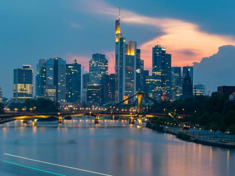 Frankfurter Bankenskyline - Foto: Boris Roessler
