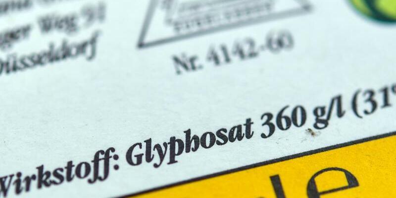 Glyphosat - Foto: Patrick Pleul/zb/dpa