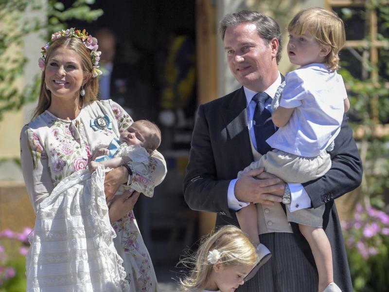 Prinzessin Madeleine und Familie - Foto: Henrik Montgomery/TT News Agency/AP/dpa
