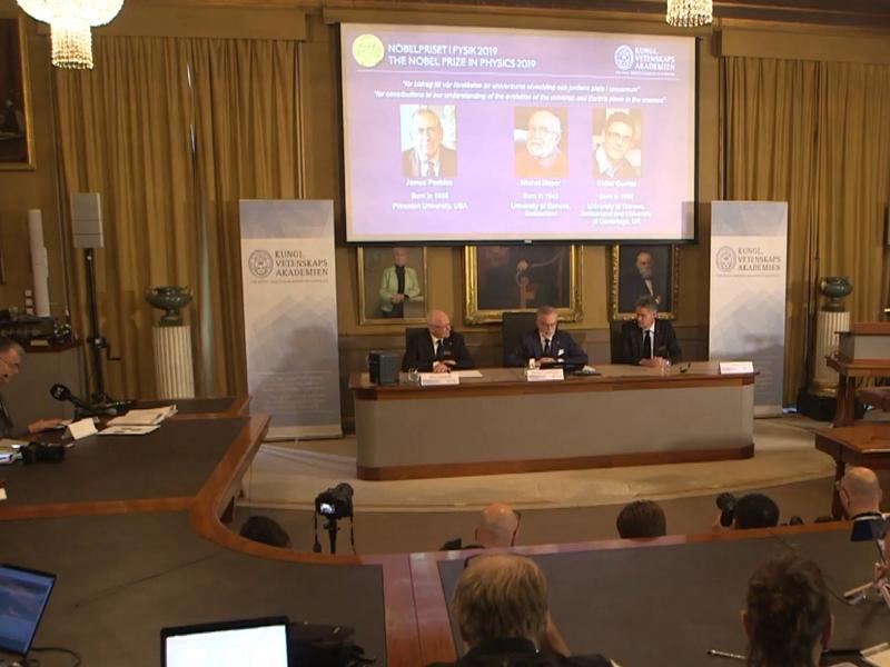 Bekanntgabe Physik-Nobelpreis am 08.10.2019 - Foto: über dts Nachrichtenagentur