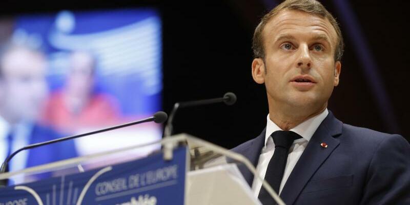 Frankreichs Präsident Macron - Foto: Jean-Francois Badias/AP/dpa