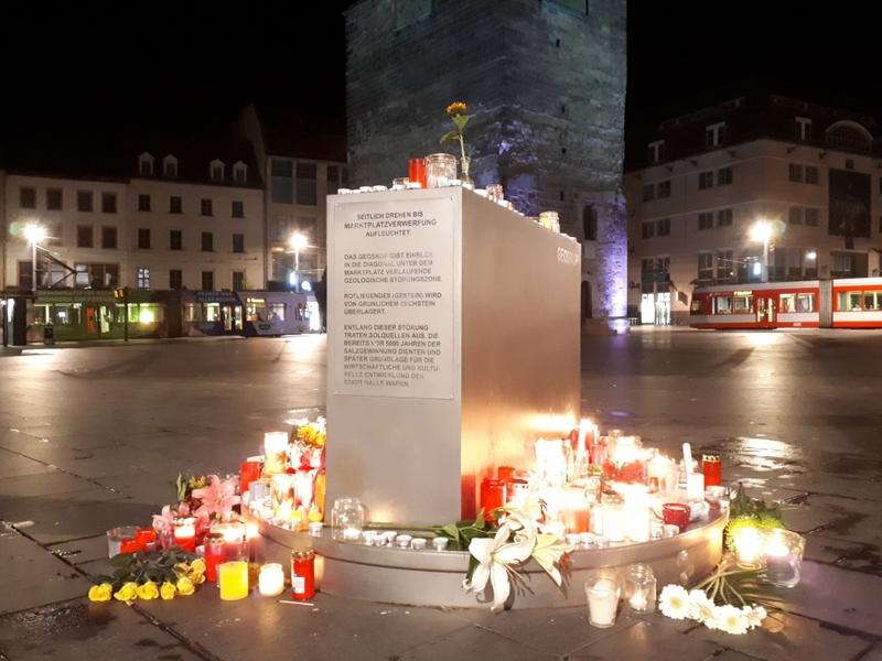 Kerzen am 09.10.2019 in Halle (Saale) - Foto: über dts Nachrichtenagentur