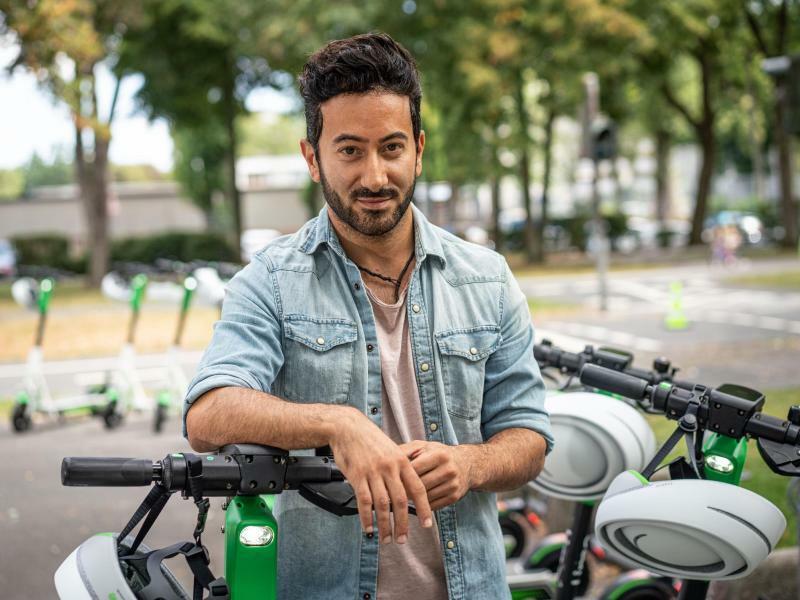 Lime-Deutschland-Chef Jashar Seyfi - Foto: Frank Rumpenhorst/dpa
