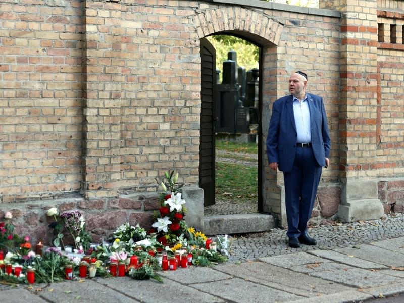 Max Privorozki vor Synagoge in Halle nach Anschlag - Foto: über dts Nachrichtenagentur
