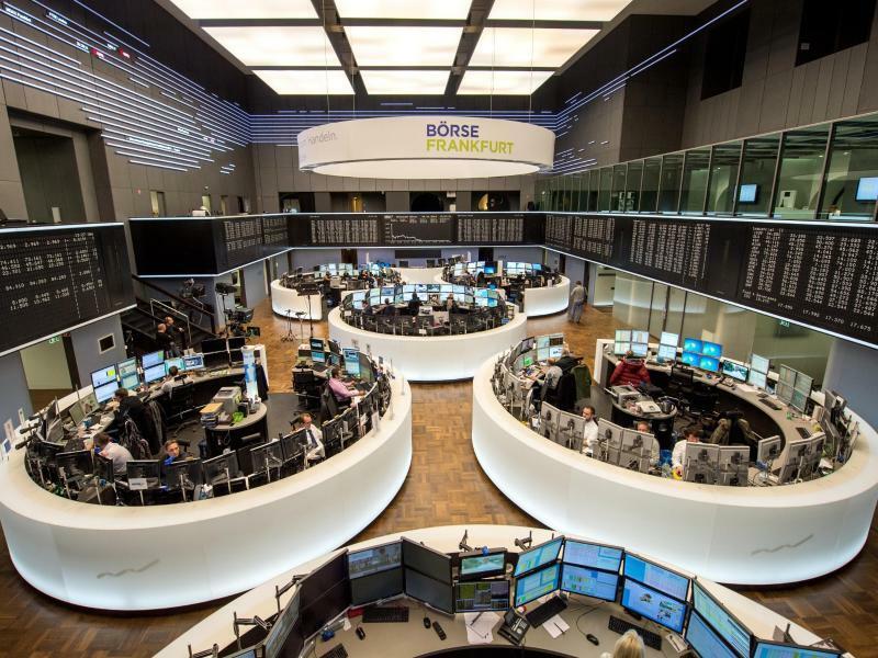 Die Börse in Frankfurt - Foto: Alexander Heinl/dpa/Archivbild