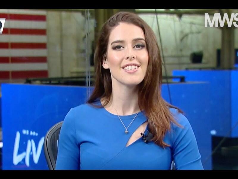 Olivia Voznenko präsentiert den Inside Wirtschaft-Zuschauern die Top-Themen der vor uns liegenden Woche aus den USA. - Foto: anlegerverlag.de