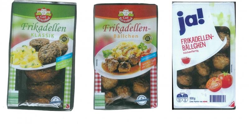 Zurückgerufene Frikadellen der Fleisch-Krone Feinkost GmbH - Foto: Text: über dts Nachrichtenagentur