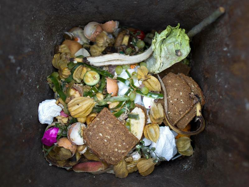 Lebensmittel im Müll - Foto: Arno Burgi/zb/dpa