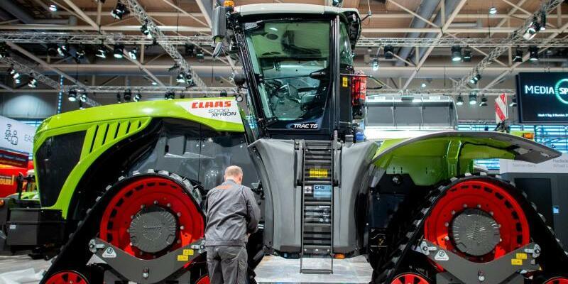 Messe Agritechnica - Aufbau - Foto: Hauke-Christian Dittrich/dpa