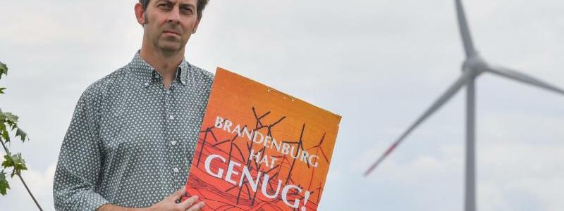 Protest gegen Windkraftanlagen - Foto: Patrick Pleul/zb/dpa